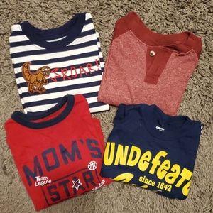 4 pack bundle assorted long sleeve shirts 2T EUC